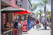 Restaurants and Shopping Downtown Huntington Beach California