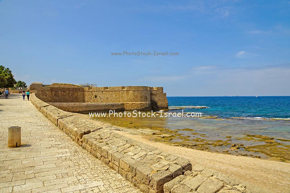 Israel, Acre, Sea Wall promenade
