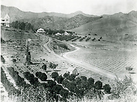 1890 Home of Henry Claussen located at lower portion of Beachwood Canyon. This hill was later known as Kratona Hill
