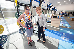 Rt Hon Nicola Sturgeon, First Minister of Scotland and internationalists from Oriam's sporting partners officially open the £33m Heriot-Watt University Edinburgh facility. First Minister of Scotland Nicola Sturgeon joins Scott Quin, Scottish swimmer and double silver medallist at Rio 2016 Paralympic Games.