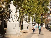 Statues of Spanish monarchs, Plaza de Oriente, Madrid, Spain