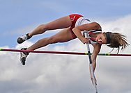Sarah Tackitt of Texas Tech competes pole vault during the Big 12 Outdoor Track & Field Championship at R.V. Christian Track & Field Complex in Manhattan, Kansas.