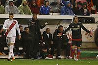 10.02.2013 SPAIN -  La Liga 12/13 Matchday 23th  match played between Rayo Vallecano vs Atletico de Madrid (2-1) at Campo de Vallecas stadium. The picture show Diego Pablo Simeone coach of Atletico de Madrid