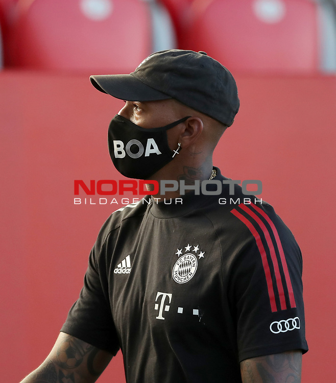 Jerome Boateng #17 von FC Bayern Muenchen<br /><br />Testspiel Audi Football Summit FC Bayern Muenchen - Olympique Marseille  auf dem FC Bayern Campus<br />Saisonvorbereitung  2020 / 2021  <br /><br />Foto : Stefan Matzke / sampics / Pool via nordphoto / Bratic<br /><br />Nur für journalistische Zwecke ! Only for editorial use !<br /><br />DFL regulations prohibit any use of photographs as image sequences and/or quasi-video