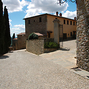 Entrance of countryside house at Italy