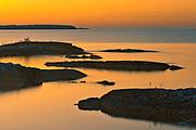Islands in Georgian Bay (Lake Huron) at sunset. Burnt Point. Bruce Peninsula.<br />Bruce Peninsula National Park<br />Ontario<br />Canada