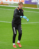 Blackpool's Jack Sims during the pre-match warm-up <br /> <br /> Photographer Kevin Barnes/CameraSport<br /> <br /> The EFL Sky Bet Championship - Blackpool v Peterborough United - Saturday 2nd November 2019 - Bloomfield Road - Blackpool<br /> <br /> World Copyright © 2019 CameraSport. All rights reserved. 43 Linden Ave. Countesthorpe. Leicester. England. LE8 5PG - Tel: +44 (0) 116 277 4147 - admin@camerasport.com - www.camerasport.com