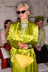 Lily Allen on the front row during the Fashion East Spring/Summer 2019 London Fashion Week show in Covent Garden, London. Picture date: Sunday September 16th, 2018. Photo credit should read: Matt Crossick/ EMPICS Entertainment.