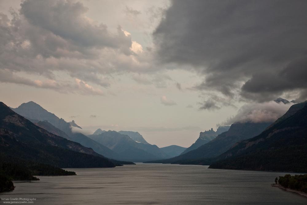 Upper Waterton Lake in Water Lakes National Park, Waterton-Glacier International Peace Park World Heritage Site