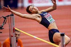 03-03-2017  SRB: European Athletics Championships indoor day 1, Belgrade<br /> In een lege Kombank Arena wordt de eerste dag van het Europees Kampioenschap gehouden / Esther Turpin FRA