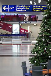 THEMENBILD - Besuch beim Weihnachtsmann, im Bild Innenansicht des Flughafens Rovaniemi. Bild aufgenommen am 03.12.2013 am Flughafen in Rovaniemi, Finnland // Feature - Visiting the Santa Claus, Interior view of the airport Rovaniemi. Picture taken on 2013/12/03, Airport Rovaniemi, Finland. EXPA Pictures © 2013, PhotoCredit: EXPA/ JFK