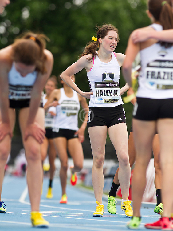 adidas Grand Prix professional track & field meet: high school girls Dream Mile, Haley Meier