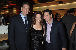Left to right, JAMES RUBIN a former assistant to President Bill Clinton, HOLLY PETERSON and JOSH BERGER head of Warner Brothers UK and        at a party to celebrate the launch of Holly Peterson's debut novel 'The manny' held at Selfridges, Oxford Street, London on 26th February 2007.<br /><br />NON EXCLUSIVE - WORLD RIGHTS