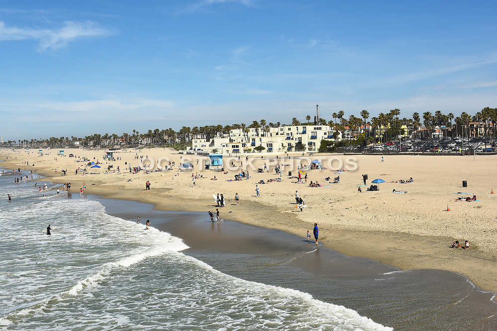 Huntington Beach Shoreline from Pier