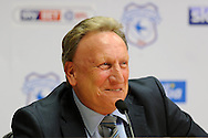 Neil Warnock is pictured as he is officially announced as the new Cardiff city manager at a press conference at the Cardiff city Stadium in Cardiff, South Wales on Thursday 6th October 2016.  pic by Carl Robertson, Andrew Orchard sports photography