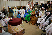 Israel, West Bank, Mount Gerizim, Samaritan Passover Sacrifice ceremony The Elders