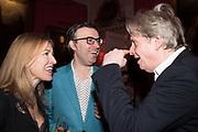 ROWAN PELLING, MATT THORNE, COSMO LANDESMAN, Literary Review  40th anniversary party and Bad Sex Awards,  In & Out Club, 4 St James's Square. London. 2 December 2019