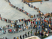 NANJING, CHINA - JANUARY 08: (CHINA OUT)<br /> <br /> Students Line Up For Self Study Room<br /> <br />  Students line up in front of the library for self study room in the morning at Nanjing University Of Finance & Economics on January 8, 2015 in Nanjing, China. According to report, 1.649 million students has registered for the 2015 National Graduate School Exam and in most of China\'s university library is the most important place for students to prepare the exam. <br /> ©Exclusivepix Media