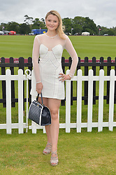 AMBER ATHERTON at the Cartier Queen's Cup Final polo held at Guards Polo Club, Smith's Lawn, Windsor Great Park, Egham, Surrey on 15th June 2014.