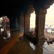 The forever burning fire, from where all pyres are lit, at Manikarnika ghat.
