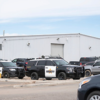 McKinley County Sheriff's at Tate's Auto Center, Friday, March 8, in Gallup.