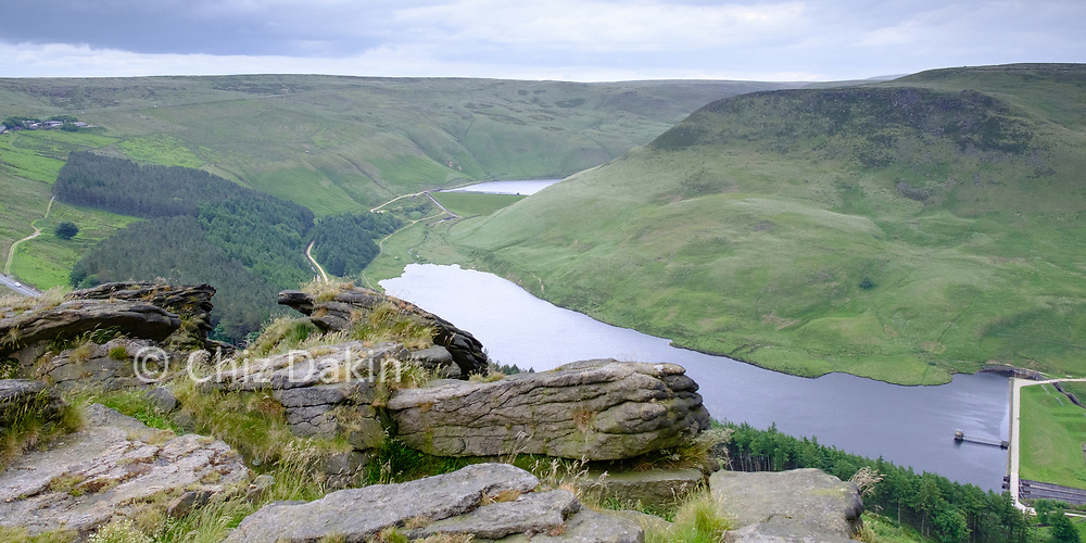 Great view over Yeoman Hey and Greenfield reservoirs from Alderman's Brow