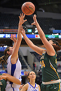 April 4, 2016; Indianapolis, Ind.; Sierra Afoa puts up a shot in the NCAA Division II Women's Basketball National Championship game at Bankers Life Fieldhouse between UAA and Lubbock Christian. The Seawolves lost to the Lady Chaps 78-73.