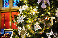 Chrismons and other Christmas decorations in the sanctuary on Wednesday, Dec. 16, 2020, at Immanuel Lutheran Church, Festus, Mo. LCMS Communications/Erik M. Lunsford