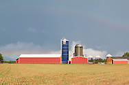 Town of Wallkill, New York - A view of Smiley Farm after a summer thunderstorm on July 1, 2016.