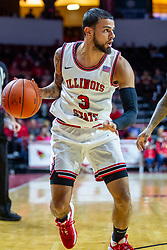 NORMAL, IL - December 07: Ricky Torres during a college basketball game between the ISU Redbirds and the Morehead State Eagles on December 07 2019 at Redbird Arena in Normal, IL. (Photo by Alan Look)
