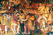 MEXICO, MEXICO CITY, MURAL Rivera's Arrival of Cortés in Veracruz