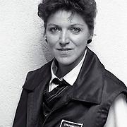 NLD/Amersfoort/19920710 - Mw. van der Poel stadswacht in Amersfoort