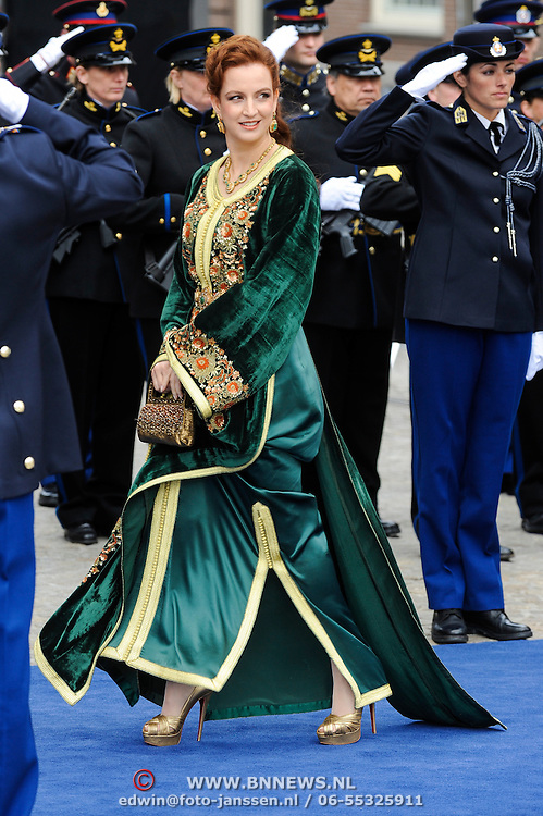 NLD/Amsterdam/20130430 - Inhuldiging Koning Willem - Alexander, Marokaanse prinses Lalla Salma