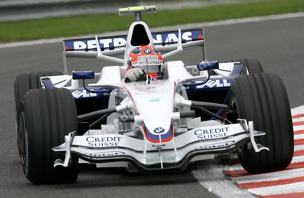 Robert Kubica (BMW Sauber) at the 2008 Belgian Grand Prix at Spa-Francorchamps. Photo: Grand Prix Photo
