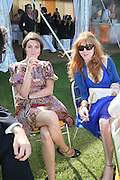 Holly Davidson and Charlotte Tilbury, The Veuve Clicquot Gold Cup 2007. Cowdray Park, Midhurst. 22 July 2007.  -DO NOT ARCHIVE-© Copyright Photograph by Dafydd Jones. 248 Clapham Rd. London SW9 0PZ. Tel 0207 820 0771. www.dafjones.com.