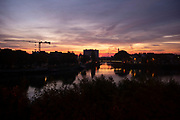 View on the old port of Ghent, Belgium, 12.10.2015