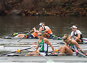 """Rio de Janeiro. BRAZIL. Gold Medalist NED LW2X. Bow. Ilse PAULIS, and Maaike<br /> HEAD, after winning the final, supporters swim out to greet and congratulate the double. 2016  2016 Olympic Rowing Regatta. Lagoa Stadium,<br /> Copacabana,  """"Olympic Summer Games""""<br /> Rodrigo de Freitas Lagoon, Lagoa. Local Time 10:39:26  Friday  12/08/2016 <br /> [Mandatory Credit; Peter SPURRIER/Intersport Images]"""