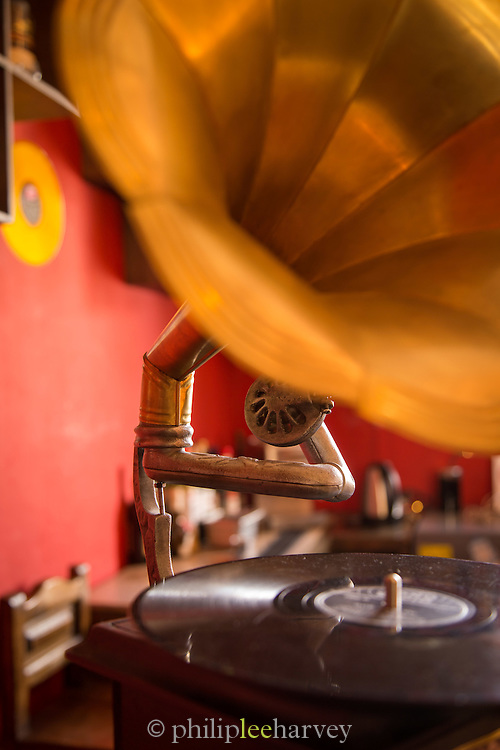 Old Gramophone, Quito, Ecuador, South America