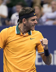 September 2, 2018 - Flushing Meadows, New York, U.S - Juan Martin del Potro wins his match against Borna Coric on Day 7 of the 2018 US Open at USTA Billie Jean King National Tennis Center on Sunday September 2, 2018 in the Flushing neighborhood of the Queens borough of New York City. Del Potro defeats Coric, 6-4, 6-3, 6-1. (Credit Image: © Prensa Internacional via ZUMA Wire)