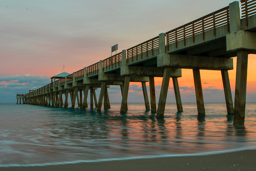 Jan. 9, 2019: The sun sets behind the Juno Beach Pier in Juno Beach, FL.