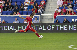 September 22, 2018 - Harrison, New Jersey, United States - Alejandro Romero Gamarra Kaku (10) of New York Red Bulls kicks ball during regular MLS game against Toronto FC at Red Bull Arena Red Bulls won 2 - 0 (Credit Image: © Lev Radin/Pacific Press via ZUMA Wire)