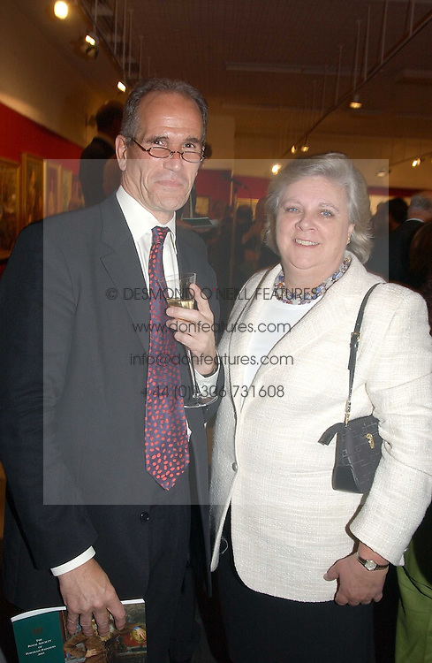 SANDY NAIRN Director of the National Portrait Gallery and ANN BECKWITH-SMITH a former lady in waiting to the late Diana, Princess of Wales at the Royal Society of Portrait Painters annual show held at The Mall Galleries, The Mall, London on 26th April 2005.<br /><br />NON EXCLUSIVE - WORLD RIGHTS