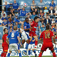 Photo: Kevin Poolman.<br />Leicester City v Colchester United. Coca Cola Championship. 23/09/2006. Leicester's Darren Kenton beats Kemal Izzet to the ball.
