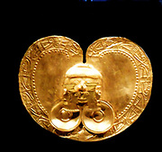 Gold pectoral with Face. 1st–7th century Calima (Yotoco) Culture, Colombia