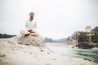 Deep Deka in the Ganga, Rishikesh - India
