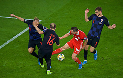 CARDIFF, WALES - Sunday, October 13, 2019: Wales' Connor Roberts during the UEFA Euro 2020 Qualifying Group E match between Wales and Croatia at the Cardiff City Stadium. (Pic by Paul Greenwood/Propaganda)