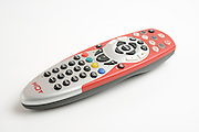 Multi channel TV remote control, On white Background
