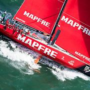 Race Start - Mapfre, Sail No: ESP 0, Class: Volvo 65, Owner: Volvo Ocean Race, Type: VOR 65