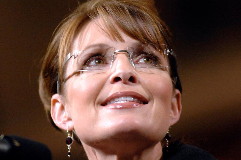 Sarah Palin during a speech in Ft. Wayne, Indiana