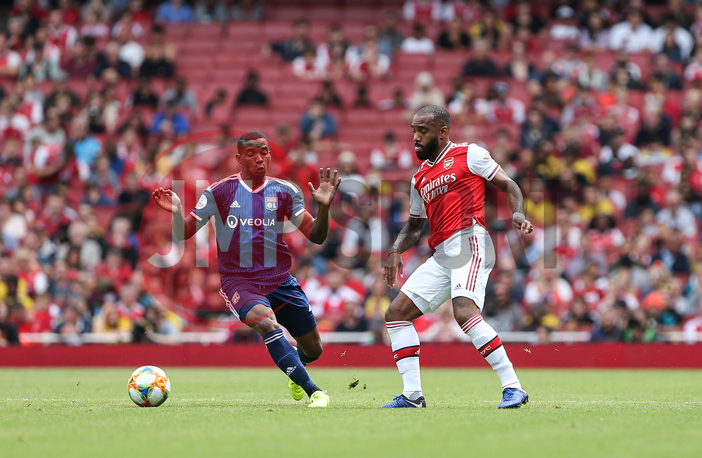 Alexandre Lacazette of Arsenal controls the ball under pressure - Mandatory by-line: Arron Gent/JMP - 28/07/2019 - FOOTBALL - Emirates Stadium - London, England - Arsenal v Olympique Lyonnais - Emirates Cup